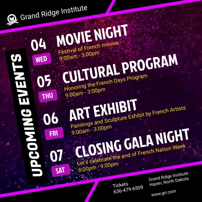 Movie Schedule Purple Schedule Table Video