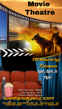 Movie Theatre Business Card