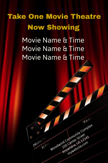 Movie Theatre Template Postermywall