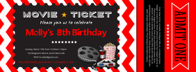 Movie Ticket Facebook Cover Photo template