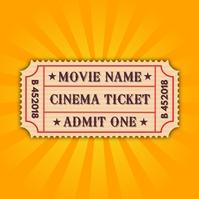 Movie Ticket Printable Template Instagram na Post