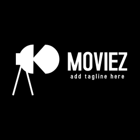 Moviez black and white logo