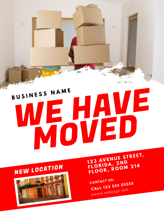 Moving Announcement Flyer Design Template