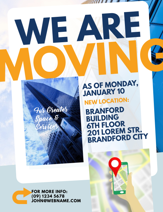 moving announcement flyer template postermywall