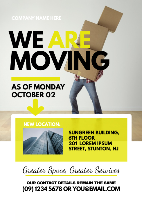 Moving Announcement Flyer