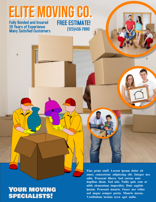 Moving Company Advertisement Flyer Template