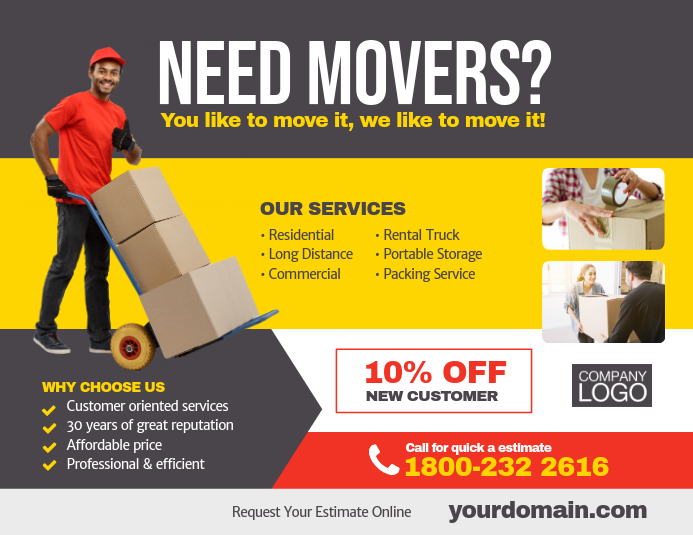 Moving Company Service Flyer Template PosterMyWall