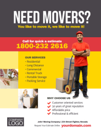 Moving Company Service Flyer Poster Template