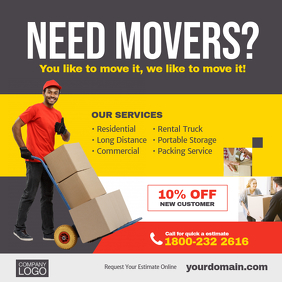 Moving Company Service Instagram Social Media Post