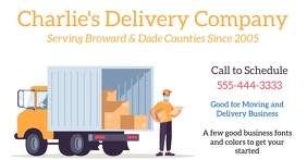 Moving or Delivery Company Template