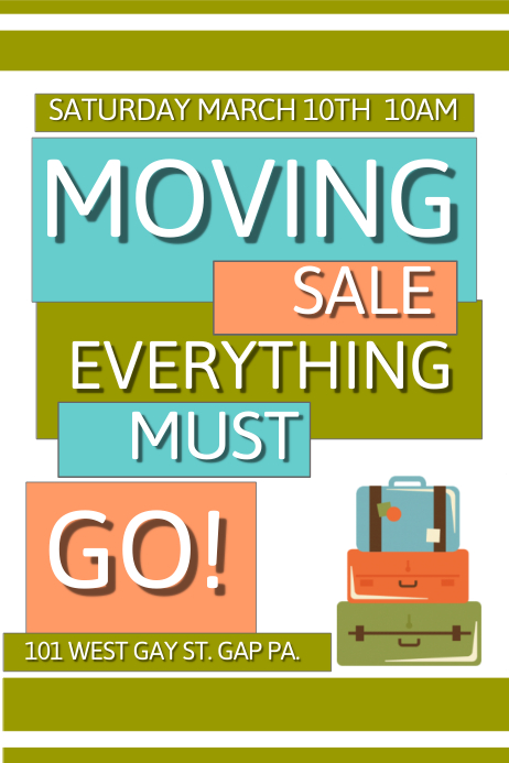 Moving Sale Template | PosterMyWall