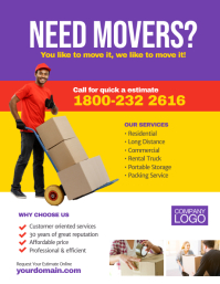 moving service company flyer template