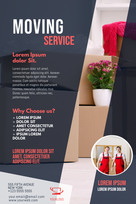 Moving Service Flyer Template Plakat