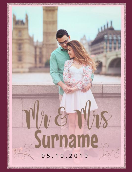 Mr & Mrs Photo Frame Wedding Template