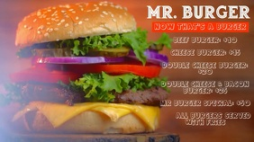 Burger Menu Digitalanzeige (16:9) template