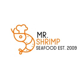 mr shrimp restaurant logo template