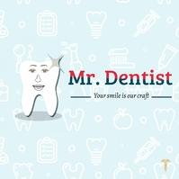 Mr. Dentist Logotipo template