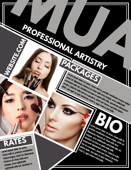 MUA Flyer (Letter pang-US) template