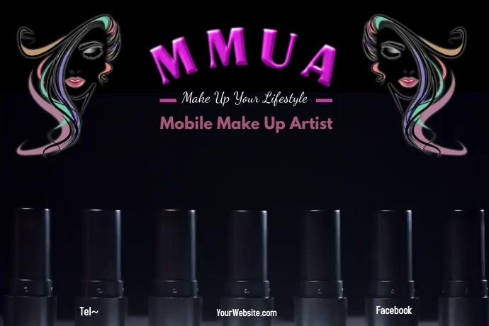MUA Make Up Artist Plakat template