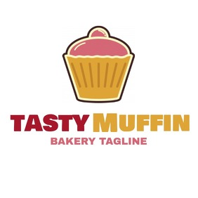 muffin sweet bakery logo