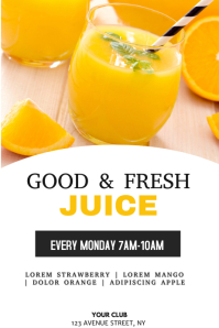 Juice menu flyer template