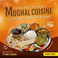 Mughal Cuisine Restaurant Instagram Post template