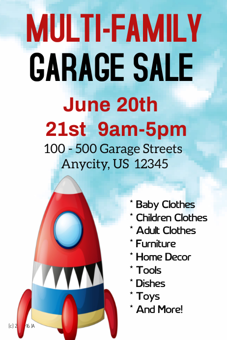 Muirli-Family Garage Sale Template | PosterMyWall