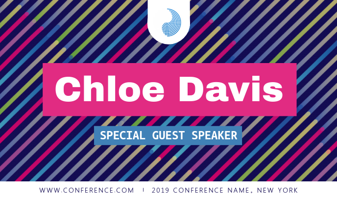 Multicolored Conference Speaker Tag
