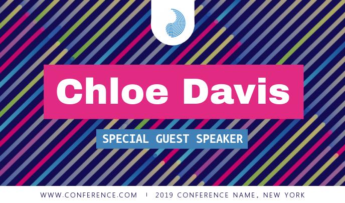 Multicolored Conference Speaker Tag