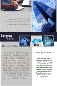 multipurpose business company newsletter flyer template blue