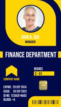 Multipurpose Business ID Card Kartu Bisnis template