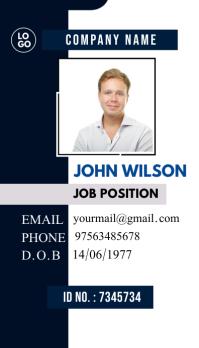 Multipurpose Business Identity card id card template