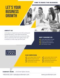 Multipurpose Business Minimalist Flyer Template Folheto (US Letter)