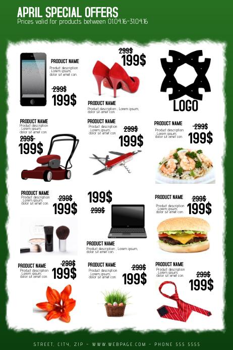 multipurpose business sale promotion flyer template