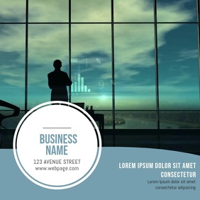 Multipurpose Business Video Card template Persegi (1:1)