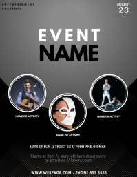 Multipurpose Event Flyer Template with photos