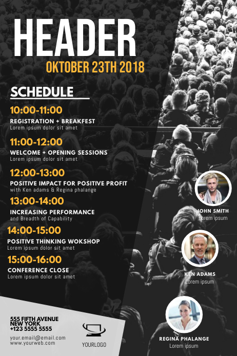 Multipurpose Event Schedule Flyer Template
