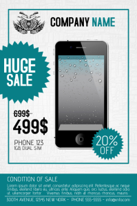 multipurpose phone product sale flyer template