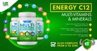 Multivitamins Online Advertisement Immagine condivisa di Facebook template