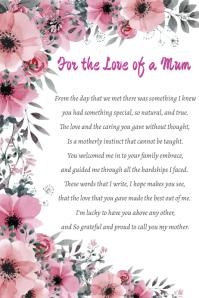 Mum Poem Póster template