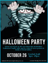 Mummy Trick or treat Halloween Flyer