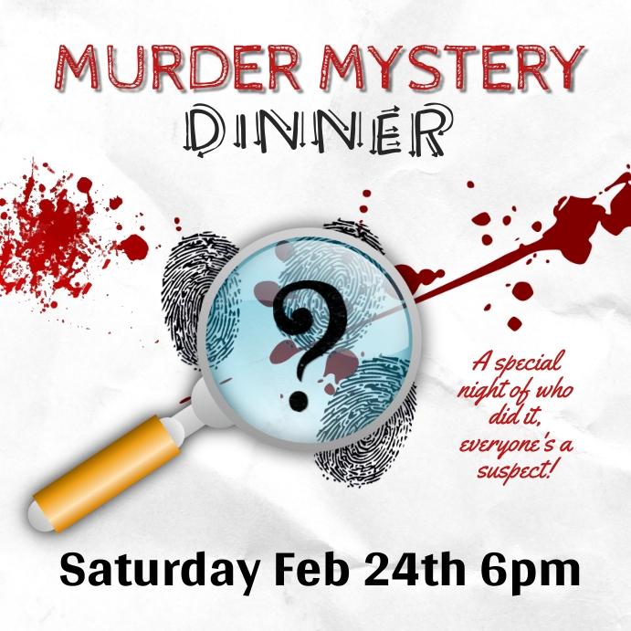 murder mystery dinner instagram template Instagram-Beitrag