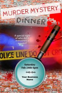 murder mystery dinner theater flyer