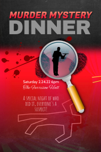 murder mystery dinner theater flyer template