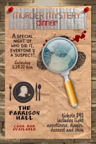 murder mystery dinner theater flyer template