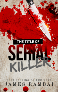 Murder Mystery Knife Blood Man killer Book Couverture Kindle template