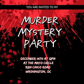 Murder Mystery Party Invitation