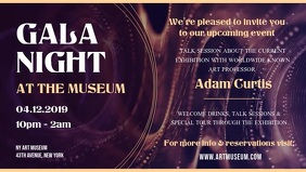 Museum Gala Night Event Facebook Cover Video