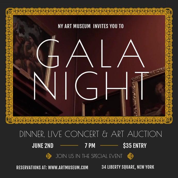 Museum Gala Night Event Square Video