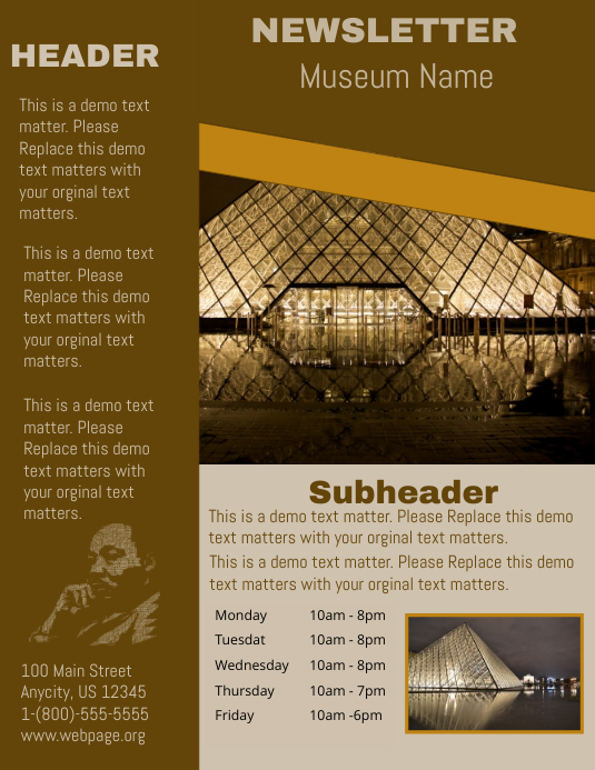 Museum newsletter template postermywall museum newsletter spiritdancerdesigns Image collections